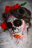 Beauty of the day of death. Portrait of a beautifull woman in the day of death Stock Photography