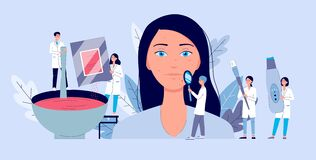 Free Beauty Dermatology Procedure With People Characters, Flat Vector Illustration. Stock Image - 169603371