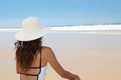 Beauty on a deserted beach Stock Image