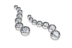 The beauty diamond earrings Stock Images