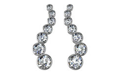 The beauty diamond earrings Stock Photos