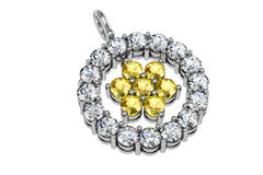 The beauty diamond pendant Royalty Free Stock Photography