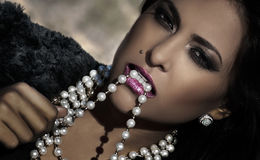 Beauty And Diamonds Stock Photography