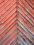 Beauty in dilapidation. Old red wood stock images