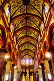 Beauty of the dome. The frescoes on the walls are exquisite, their surroundings, though impressive Royalty Free Stock Photography
