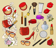 Beauty doodle icons Stock Photography