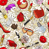Beauty doodle pattern Royalty Free Stock Image