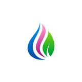 Beauty droplet eco logo Stock Images