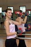 Beauty and the Dumbells Stock Photo