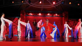 Beauty and the dynamic 2. China henan tourism arts and performance Stock Photo