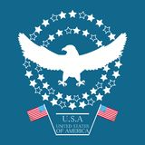 Beauty eagle with american flag symbol. Vector illustration Stock Photo