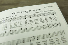 For the Beauty of the Earth Christian Hymn by Folliott S. Pierpoint royalty free stock photo