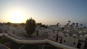 Beauty of egyptian hotel in the morning 4K time lapse stock video