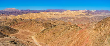 The beauty of Eilat. The hiking to Eilat mountains is the popular tourist attraction in Israel Royalty Free Stock Photos