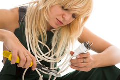 Beauty electrician Stock Images