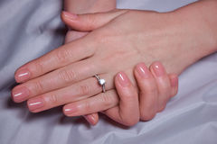 Beauty elegant female hands with manicure Stock Photo