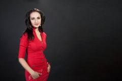 Beauty elegant young dark-haired girl Royalty Free Stock Photos
