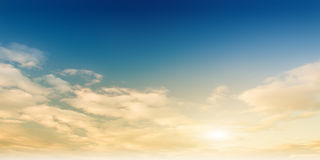 Beauty evening sky panorama Stock Image