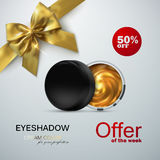 Beauty eye shadows ads. Stock Images