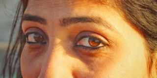 Beauty in the eyes royalty free stock images
