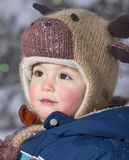 Beauty face. Face of baby during winter Royalty Free Stock Photography