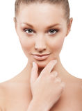 Beauty face of beautiful woman Royalty Free Stock Images