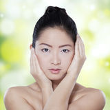 Beauty face of chinese female model Stock Images