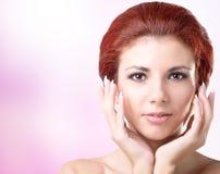 Beauty Face Girl.Hygiene Skin. Stock Photo