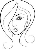 Beauty face girl portrait. Beauty  face girl portrait  illustration Royalty Free Stock Photography