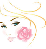 Beauty face girl portrait. Elements for design Royalty Free Stock Image