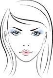 Beauty face girl. Vector Royalty Free Stock Photography
