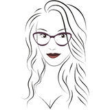 Beauty_face_with_glasses Royalty Free Stock Photo