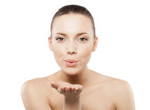 Beauty face of beautiful woman Royalty Free Stock Photo
