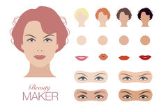 Beauty Face Maker. Vintage Style Royalty Free Stock Photography
