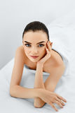 Beauty Face. Portrait Woman With Clean Skin. Skin Care Concept. Stock Image