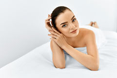 Beauty Face. Portrait Woman With Clean Skin. Skin Care Concept. Royalty Free Stock Photo