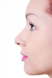 Beauty face in profile Royalty Free Stock Photography