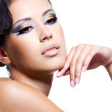 Beauty face of a sexy woman Royalty Free Stock Photos