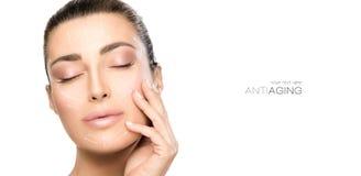 Beauty Face Spa γυναίκα Χειρουργική επέμβαση και αντι έννοια γήρανσης στοκ φωτογραφίες με δικαίωμα ελεύθερης χρήσης