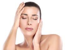 Beauty Face. Spa Woman. Skin Care Concept Stock Photos