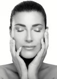 Beauty Face Spa Woman. Skincare and Anti Aging Concept Stock Image