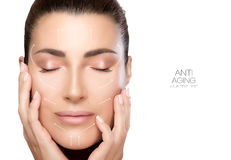 Free Beauty Face Spa Woman. Surgery And Anti Aging Concept Stock Image - 75235491