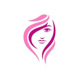 Beauty Face Vector Template Stock Photography