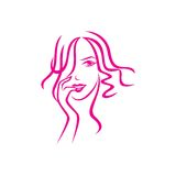 Beauty Face Vector Template Stock Images