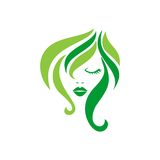 Beauty Face Vector Template Royalty Free Stock Photography
