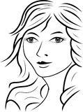 Beauty face woman Royalty Free Stock Photo