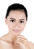 Beauty face woman with clean fresh skin Royalty Free Stock Images