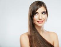 Beauty face woman close up portrait. Stock Photography