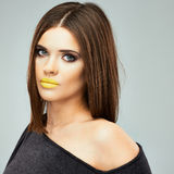 Beauty face woman close up portrait. Royalty Free Stock Images