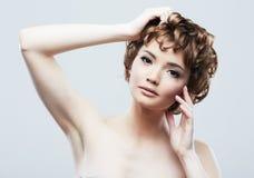 Beauty face woman portrait. stock images